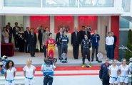 ePrix7 Монако, подиум: Буэми, Лукас ди Грасси и  Нельсон Пике-мл.