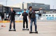 Берлин 2015, пятница, пилоты развлекаются на трассе