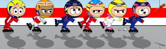 Хорошо хоть гонщикам нужно просто бегать, а не на коньках кататься