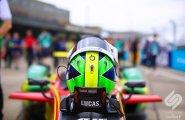 Берлин 2015, ePrix8. Шлем Лукаса ди Грасси, на его машине, перед гонкой