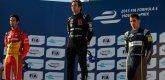 ePrix9 Москва, гонка, Нельсон Пике-мл., Лукас ди Грасси и Себастьен Буэми