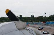 Берлин 2015, ePrix8. Машины на трассе во время гонки.