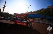 Monaco Formula E. Бруно Сенна выехал на утреннее солнце.