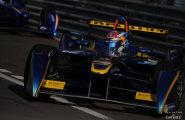 Monaco Formula E. Себастьян Буэми на трассе, свободные заезды