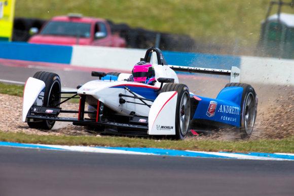 Тесты в Донингтоне: Скотт Спид, Andretti Autosport, Фото: LAT, Digital Image F80P7998