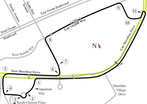 Классическая трасса в Лонг Бич для гонок IndyCar