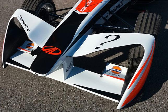 Новое антикрыло болида Формула Е