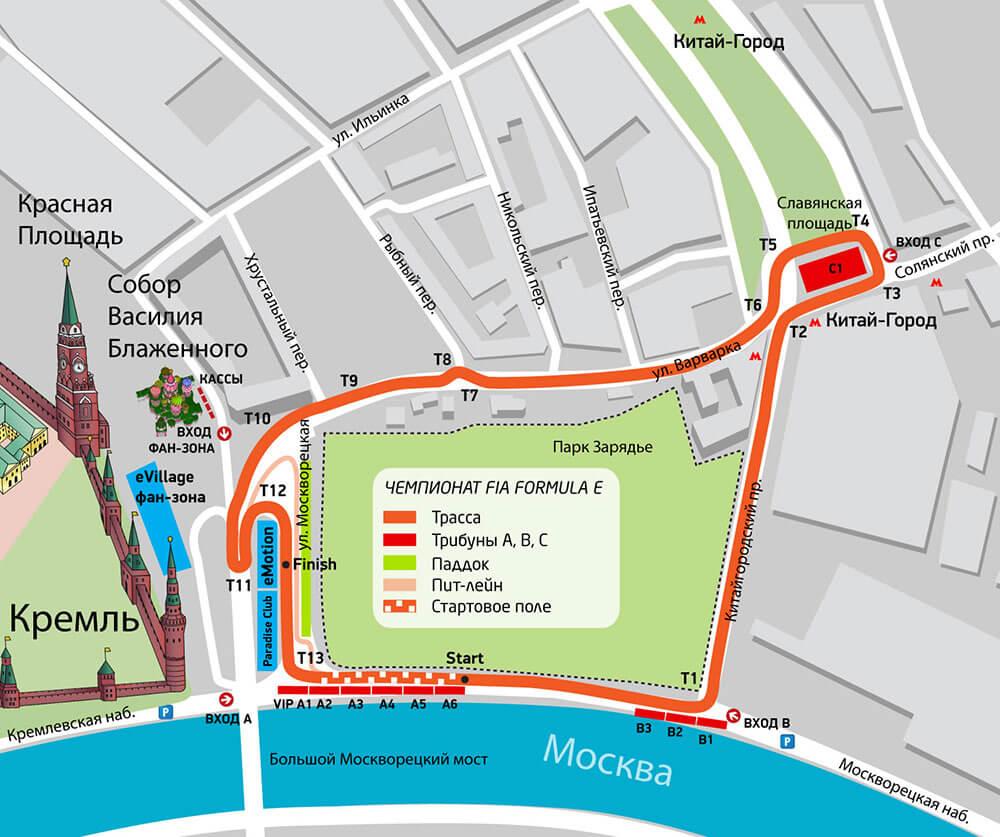 Схема трассы московского этапа